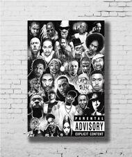 Hip-Hop Rap Gods Media Rappers Collage Art POSTER Wall Decoration X-941