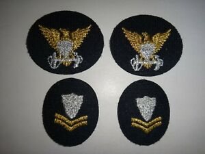 2-US-Coast-Guard-COMMAND-ID-Patches-Pair-USCG-Petty-Officer-2nd-Class-patches