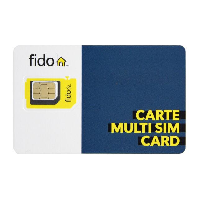 Brand New Fido CANADA 4G LTE Multi Sim Card - Nano Micro Standard 3 in 1 Combo