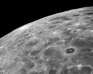 Nasa Apollo 8 Lunaire Surface Cratères 8x10 Argent Halide Affiche