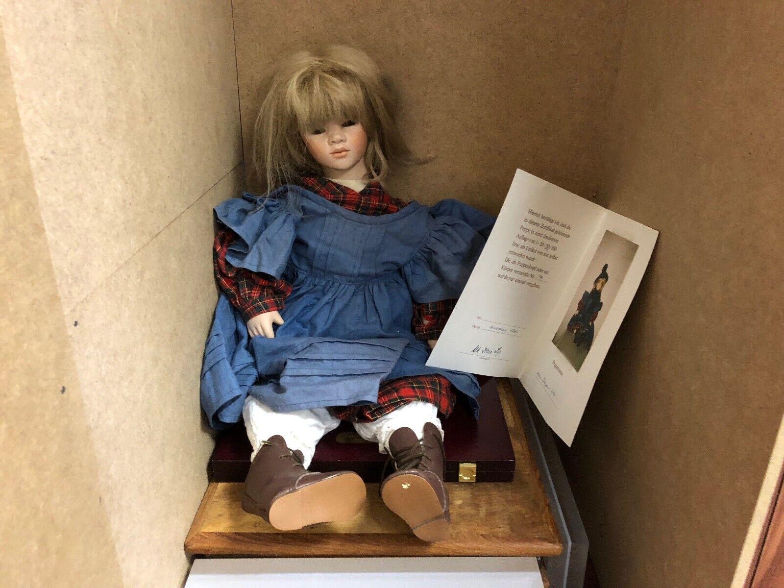 Ute Kase Lepp Porzellan Porzellan Porzellan Puppe 58 cm. Top Zustand 04d62b