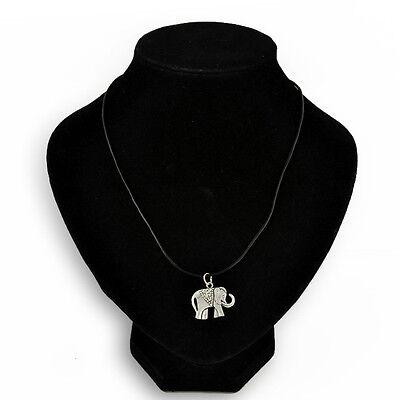 Tibetan Boho  Necklace Pendant Black Leather Cord Choker CharmSilver vintage