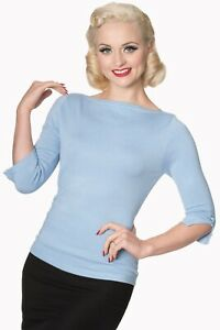 Bordeaux Vintage 50s Rockabilly Blouse Retro Addicted Sweater Top Banned Apparel