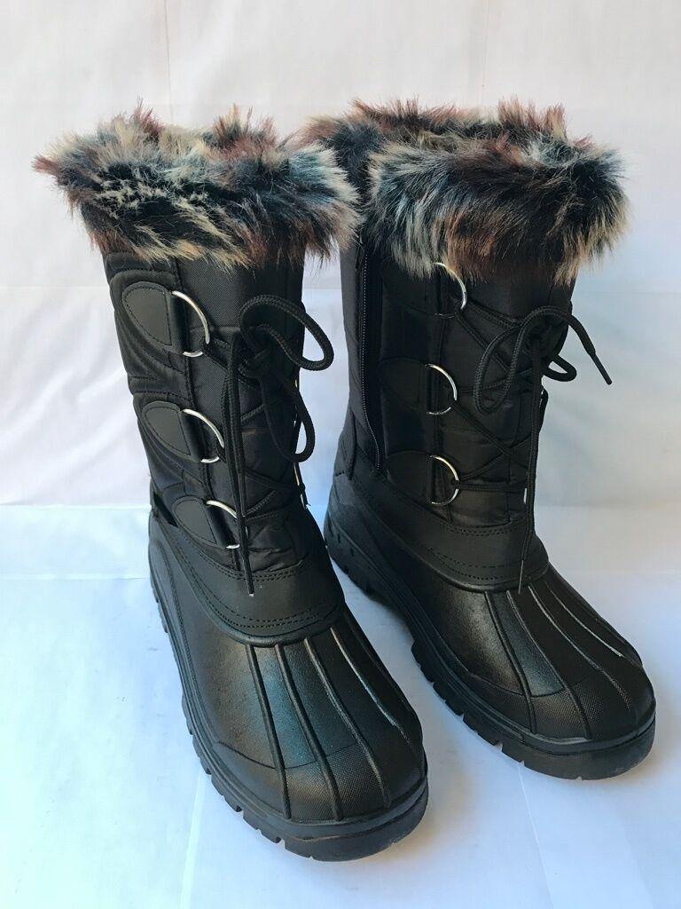 "Women's Winter Boots 10""-11"" Fur Lined Insulated Waterproof Side Zipper Snow/Ski"