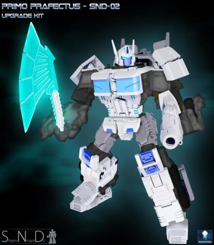 New SND-02 Primo Prafectus upgrade Kit Apply CW White Optimus Prime in Stock