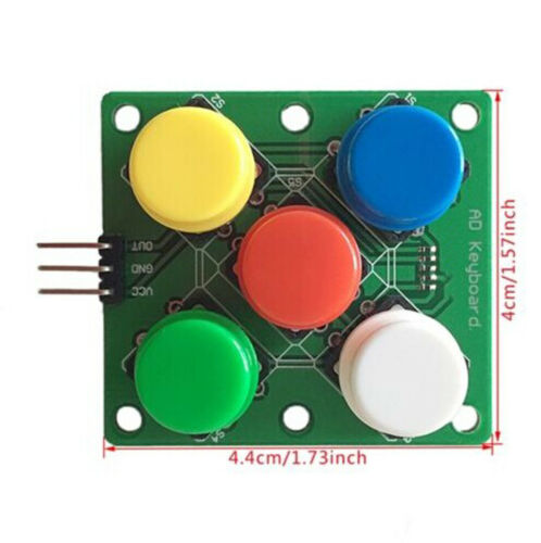 New arduino Colorful Round Cap Button Analog Button 5 Five Keys Module