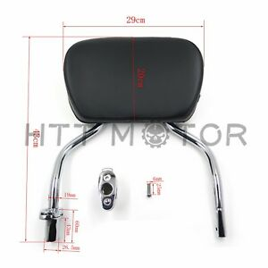 Chrome Detachable SissyBar Pad Backrest For Harley FLRT Freewheeler 2015-2017