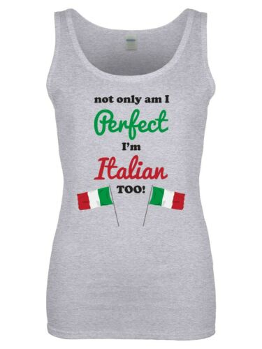 I/'m Italian Too Women/'s Grey Vest Not Only Am I Perfect
