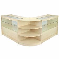 Vendita al dettaglio Contatore Maple Shop Display Cabinet storage, ripiani in vetro showcase Orion