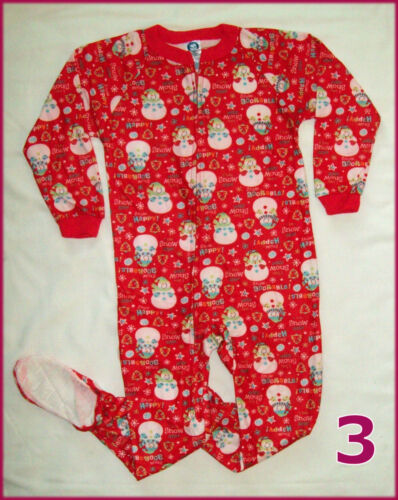 BABY /& KIDS X-MAS ONESIES 6 mth to 5 yrs One-Piece Zip up Christmas ROMPER New