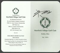 Guan Tianlang Signed Muirfield Village Golf Club Memorial Tournament Scorecard