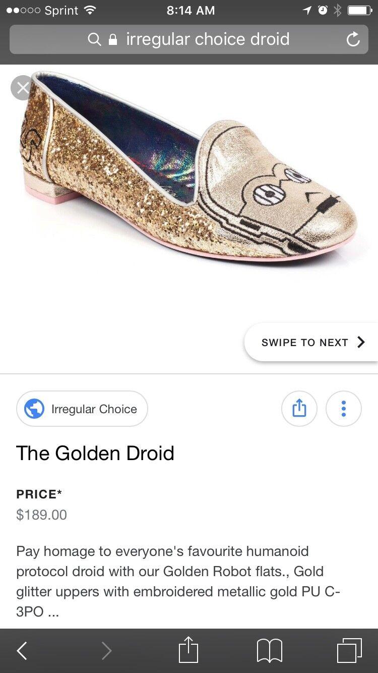 Iiregular Choice Star Wars droid glitter flats SZ 40 US 9