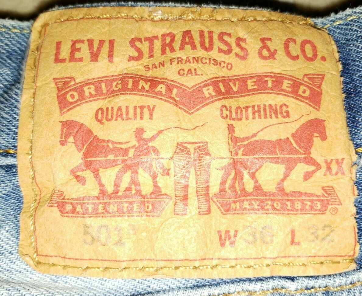 Levis 501's Jeans Distressed 36x32 Button Fly - image 5