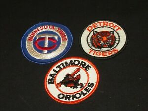 OLD-BASEBALL-PATCH-PATCHES-DETROIT-TIGERS-BALTIMORE-ORIOLES-MINNESOTA-TWINS