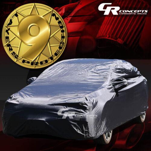 9-LAYER PEVA INDOOR//OUTDOOR SNOW//UV//WATERPROOF BREATHABLE LINING CAR COVER BLACK