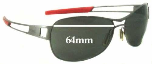 Effets spéciaux de remplacement Lunettes De Soleil Lentilles Pour TAG HEUER Speedway TH0204-Largeur 64 mm