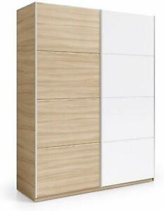 Catalogo Armadi Ikea 2019 Ante Scorrevoli.Armadio 2 Ante Scorrevoli Guardaroba Bianco Rovere Appendiabiti