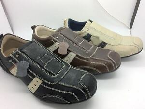 Mens-Shoes-SOA-Mason-Black-Brown-or-Beige-multi-Size-7-12-Leather-Casual-Shoe