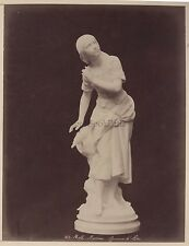 Photo de la Statue de Jeanne d'Arc par Mathurin Moreau France Albumine
