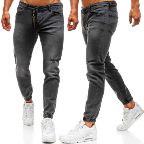 Hose Jeans Jogger Freizeit Baggy Clubwear Classic Motiv Herren BOLF 6F6 Casual