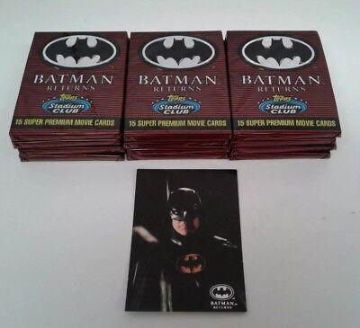 1991 Topps BATMAN Returns Unopened Packs Two