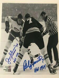 Jean Beliveau & Phil Esposito double autographed 8 x 10 with COA