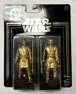 Star Wars Commemorative Edition Gold Obi-Wan Kenobi & Anakin Skywalker.
