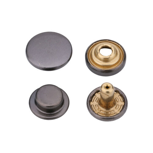 12.5mm Press Studs Brass Snap Fasteners Popper Buttons for Crafts Leather Jacket