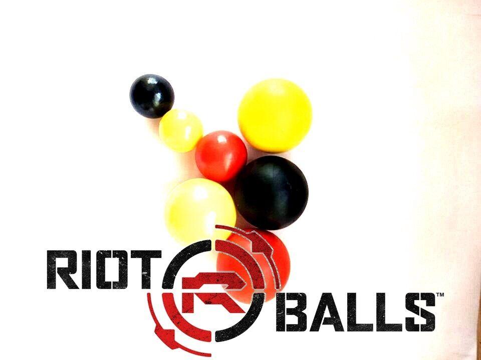 500 X 0.43 Balls Cal. Riot Balls 0.43 Self Defense Less Lethal Practice Paintballs Gelb 62a47c