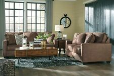 Astonishing Ashley Furniture Claremore Antique Faux Leather Sofa And Spiritservingveterans Wood Chair Design Ideas Spiritservingveteransorg