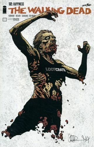 The Walking Dead #132 2014 Adlard Loot Crate Variant Comic Book Brand New Sealed