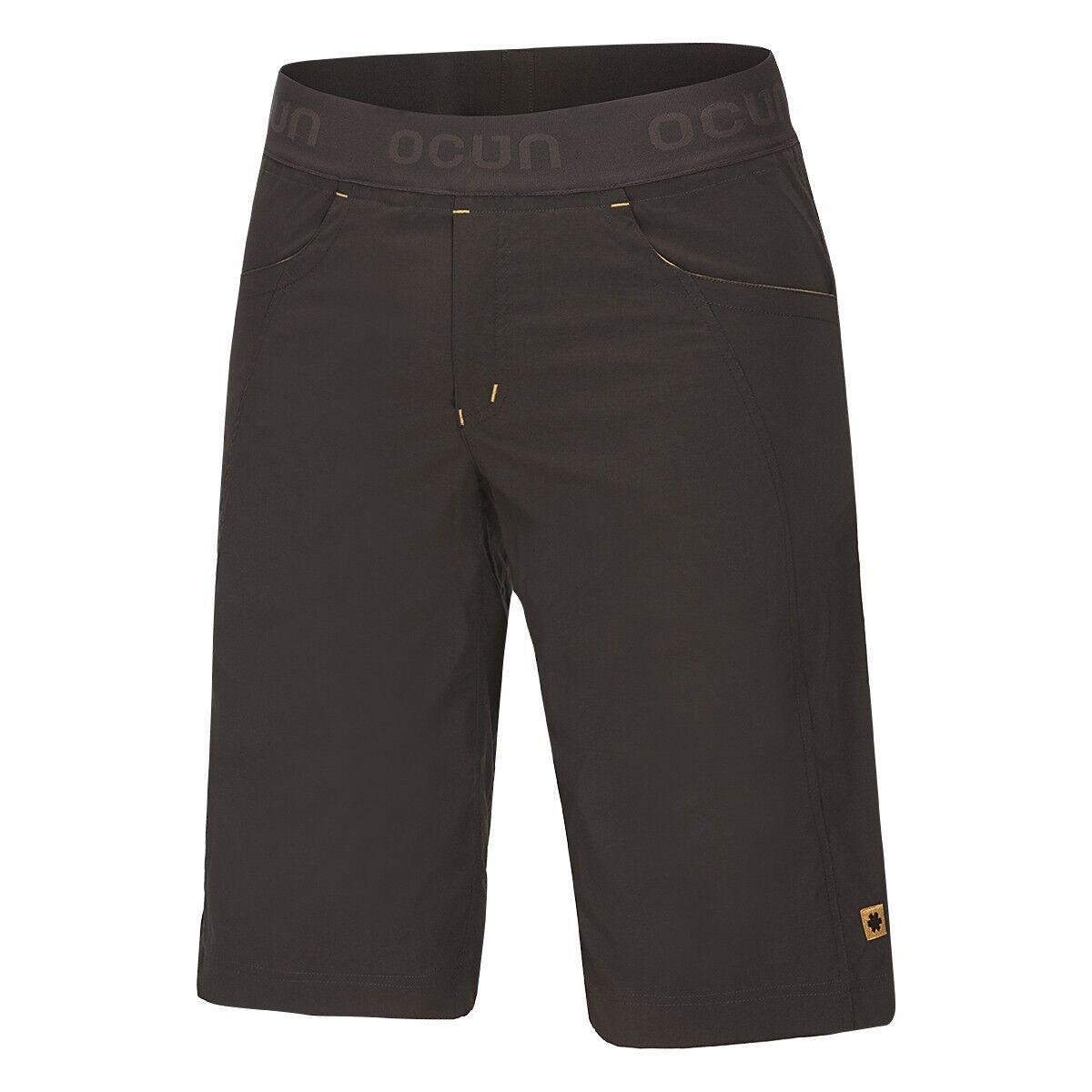 Ocun Mania Shorts Men Pantalón Corto de Escalada para Hombre Marrón - Amarillo