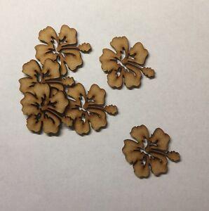 wooden Flower 3cm//30mm Craft Embellishment 3mm thick MDF Laser cut wood shape