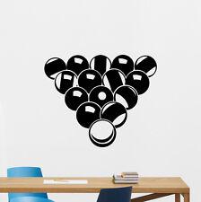 Billiard Balls Wall Decal Sport Game Vinyl Sticker Gym Decor Mural Poster 200hor