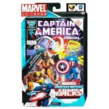 marvel universe greatest battles Wolverine & Captain America Comic 2-Pack MINT