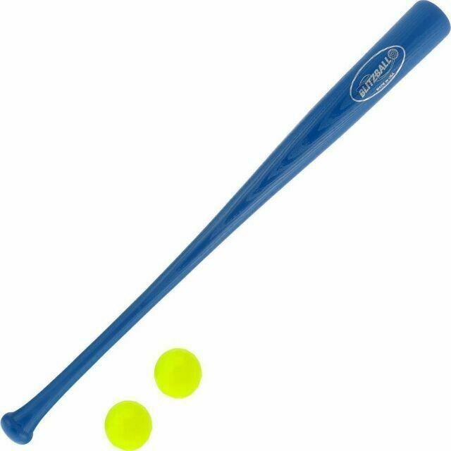 NEW BLITZBALL /& BAT COMBO Plastic Blitz Bat Baseball Swerve Training Blitz Ball
