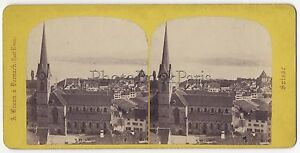 Zurigo Suisse Foto Stereo Da Adolphe Braun Vintage Albumina, Ca 1865