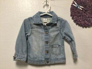 a292493873d1 Girls denim jacket size 18 months blue light wash long sleeve ...