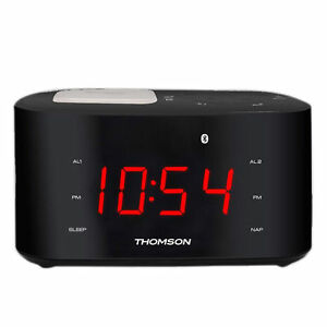 thomson bluetooth clock radio with usb charging btc 2138 ebay. Black Bedroom Furniture Sets. Home Design Ideas