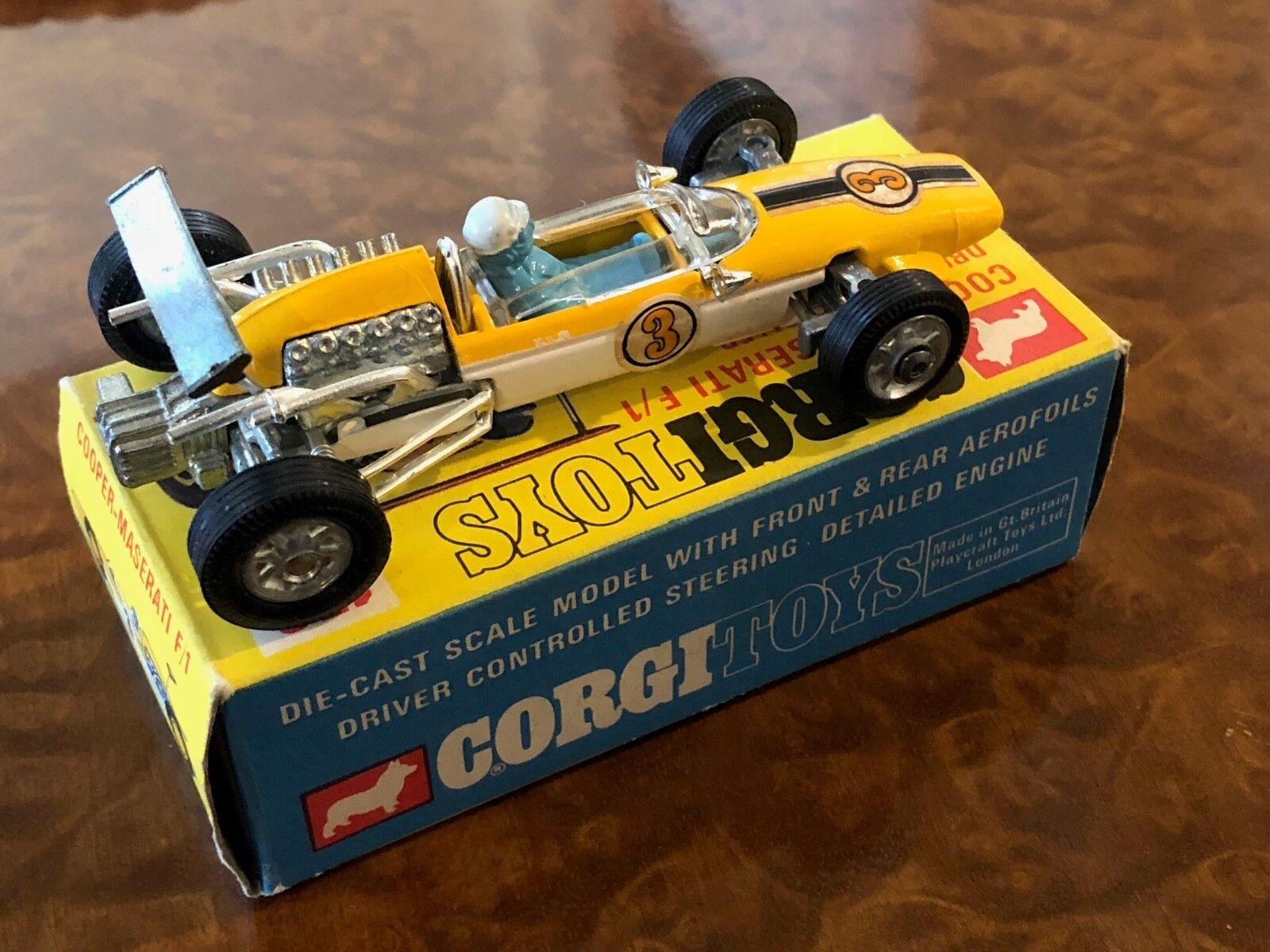 Vintage Corgi Toys Cooper Maserati F1 Grand Prix Voiture Objet N0. 159