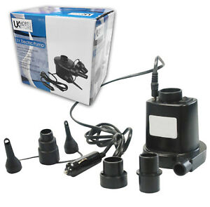 UKHobbystore-12v-Car-Plug-Electric-Air-Pump-Camping-Travel-Airbed-Inflatables