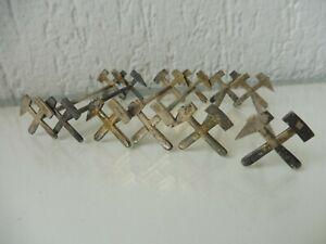 6-schone-alte-Messerbankchen-Bergbau-gekreuzte-Hammer-800-Silber