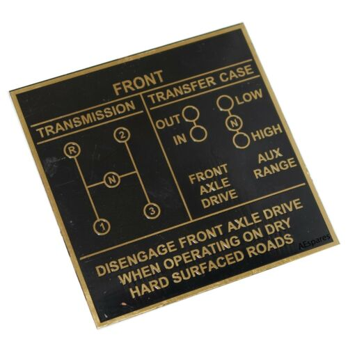 Brass Black Dash Data Plate 3 Unit Jeep Willys Ford CJ2A CJ3A CJ3 Brass ECs