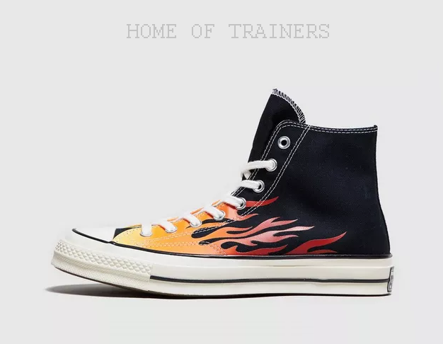 Conversare Chuck  Taylor All Star 70s Hi Flame nero Men's Trainers All Dimensiones  vendita outlet