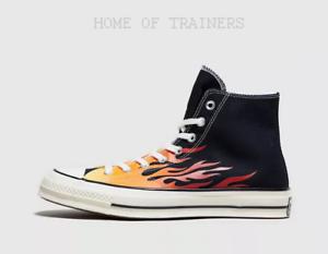 Détails sur Converse Chuck Taylor All Star 70 S HI Flamme Noir De Sport  Hommes Toutes Tailles- afficher le titre d'origine