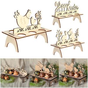 Wooden-Easter-Egg-Rack-Stand-Holder-Hen-Chick-Banny-DIY-Easter-Home-Decoration