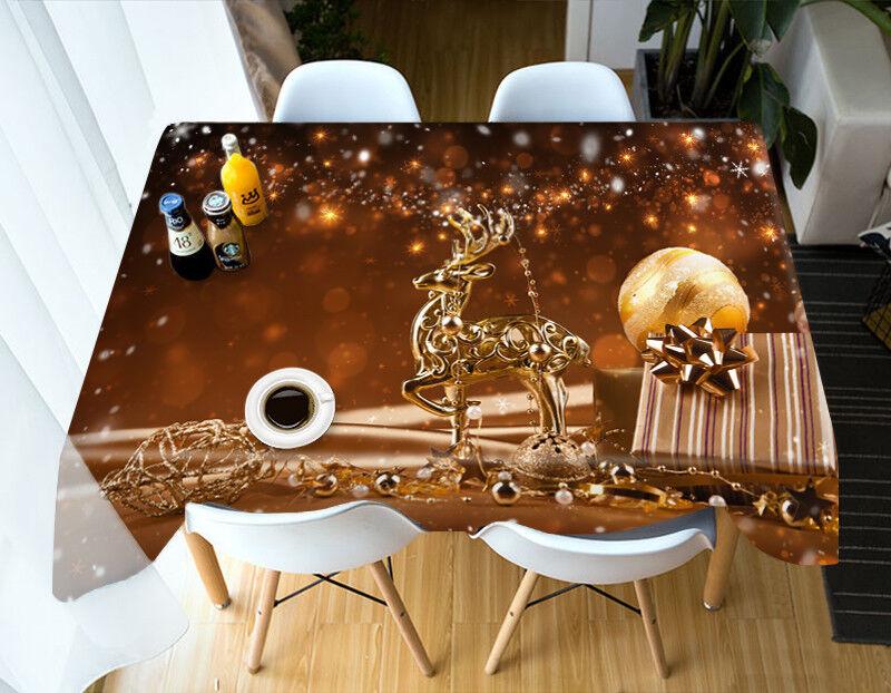 3D Noël Xmas 49 Nappe Table Cover Cloth fête d'anniversaire AJ papier peint UK