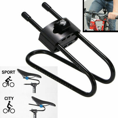 Bike Saddle Alloy Spring Steel Suspension Tool Bicycle Seat Shock Absorber BLACK