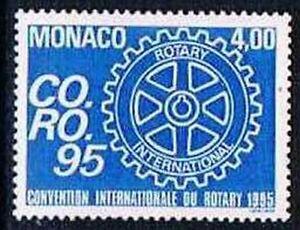 Monaco 1995 Yv N°1973 Mnh** Int. Rotary congress - France - Monaco 1995 Yv N1973 Mnh Int. Rotary congress - France