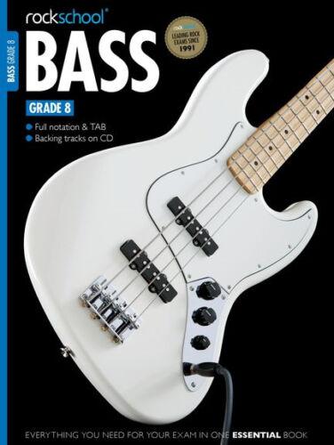 Grade Debut 1 2 3 4 5 6 7 8 Rockschool Bass Guitar Book 2012 2018 Edition